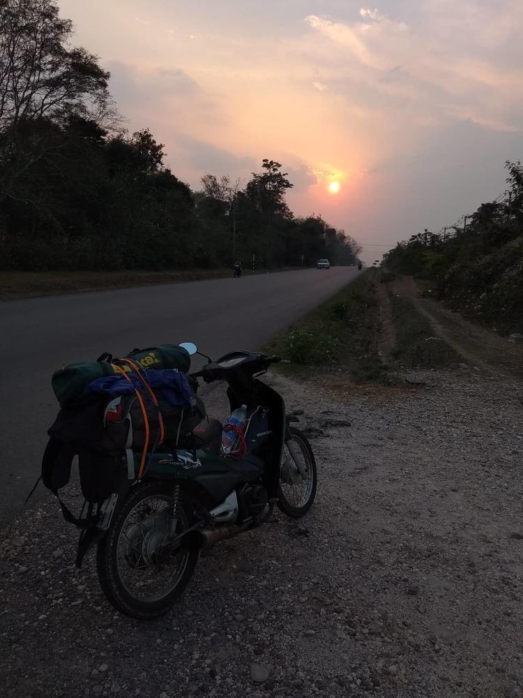 Chasing the sunset near Savannakhet