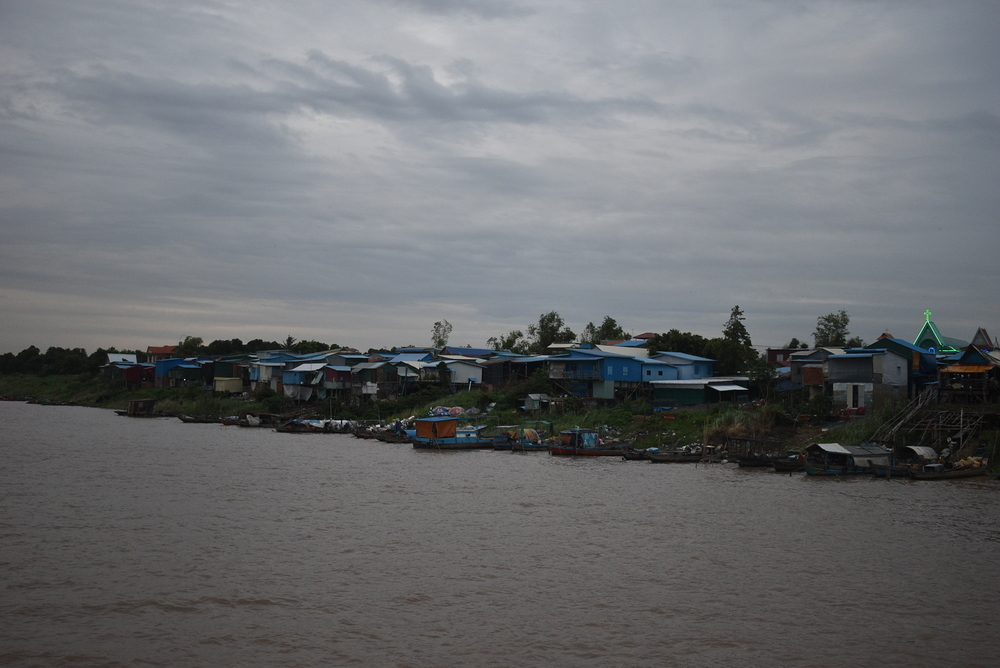 One of the numerous shore villages in Cambodia.