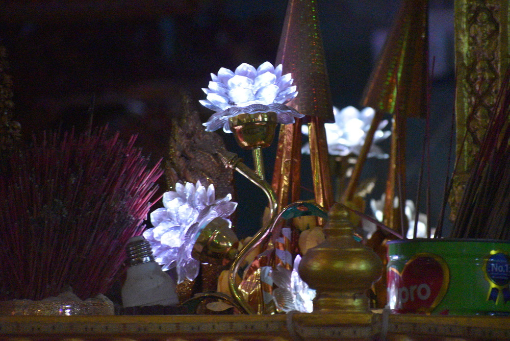 Offerings to the shrine.