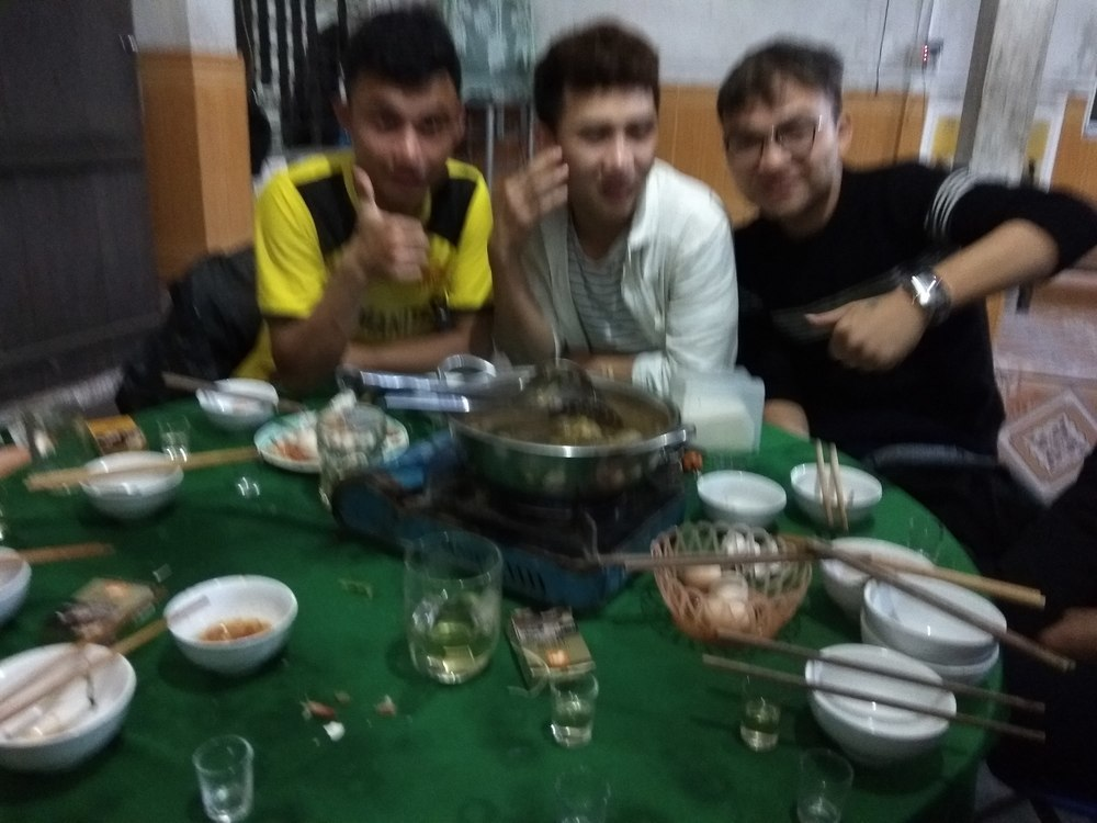 Rice wine and hot pot goes together
