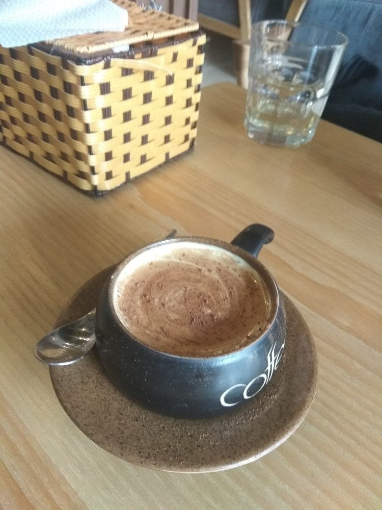 A tasty and creamy egg coffee
