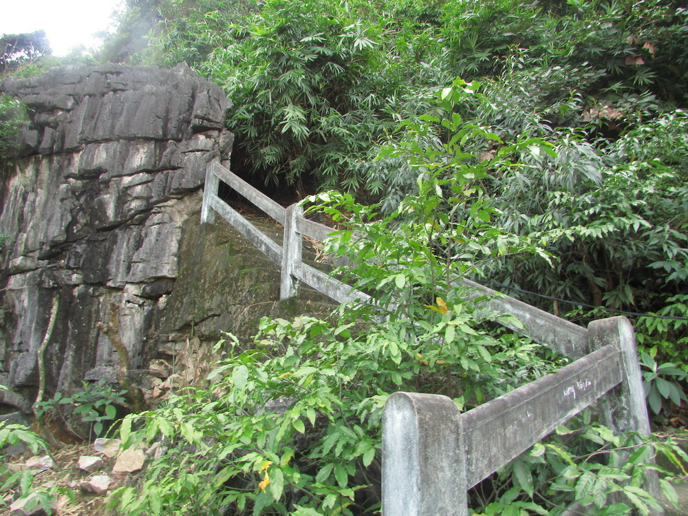 Steps at the beginning of a trail