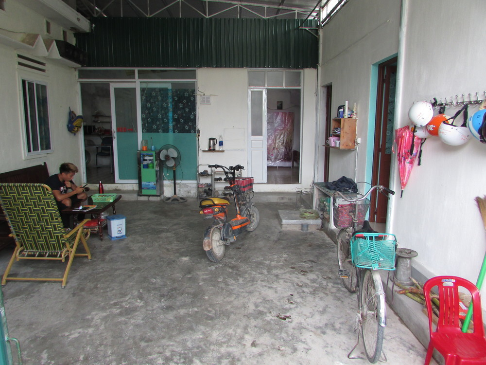 Courtyard in the homestay