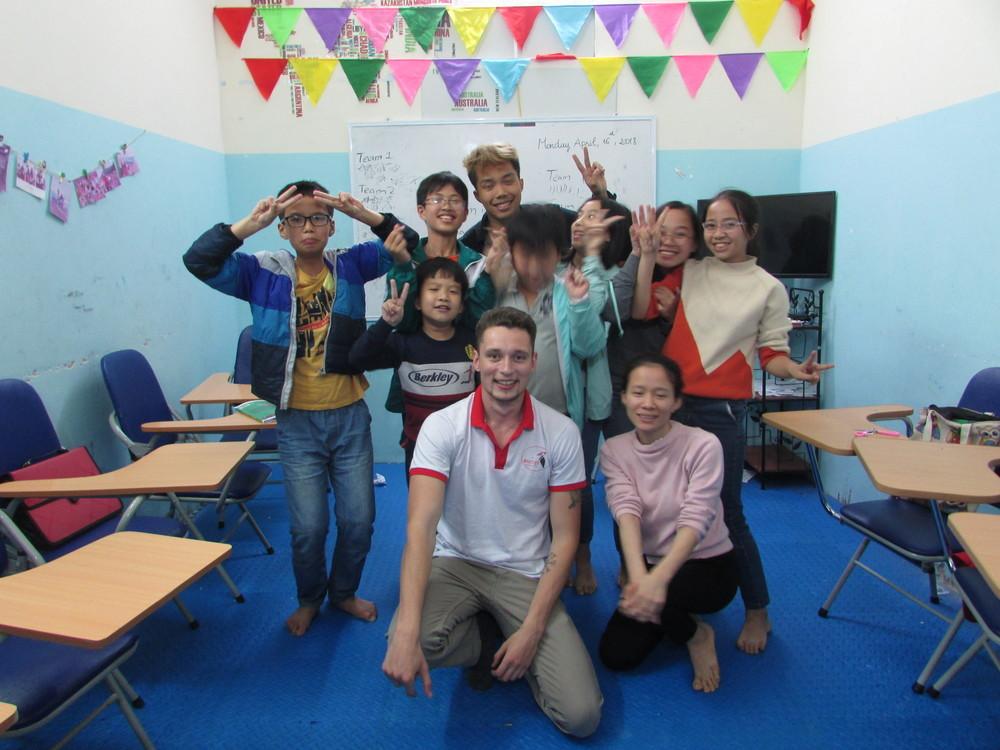 Classroom in private English center