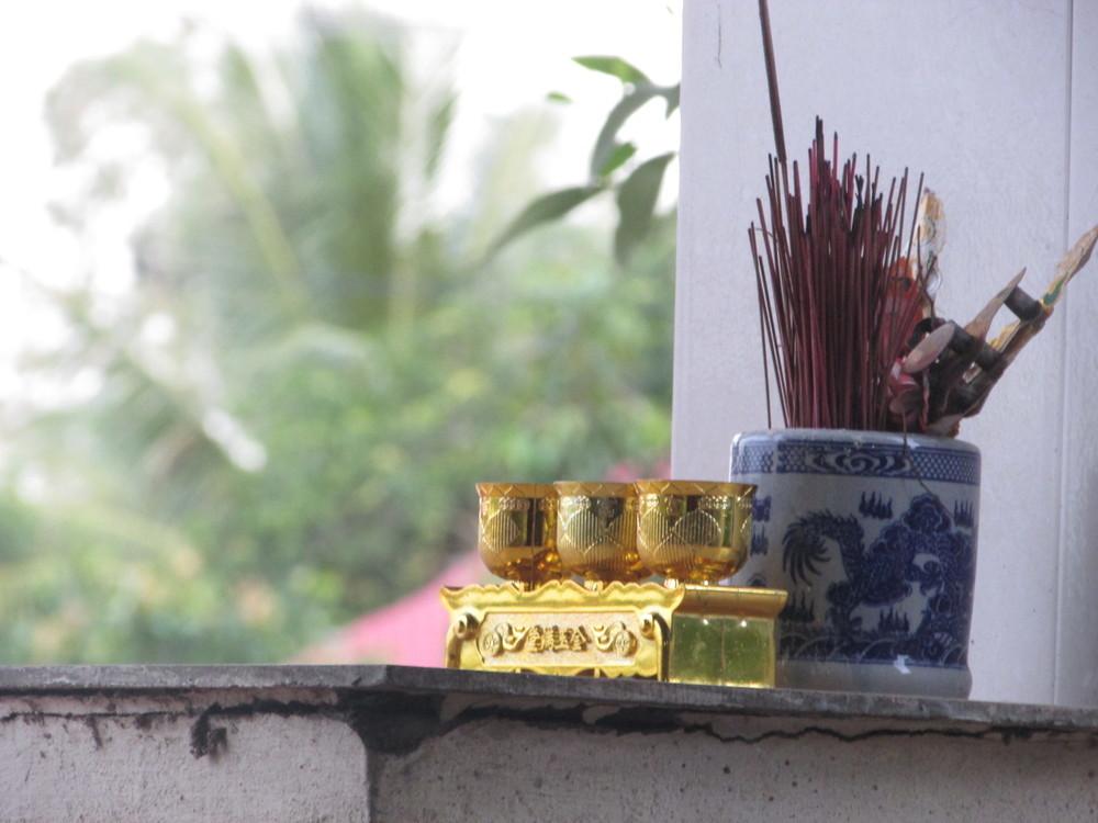 Zen atmosphere in the restaurant.