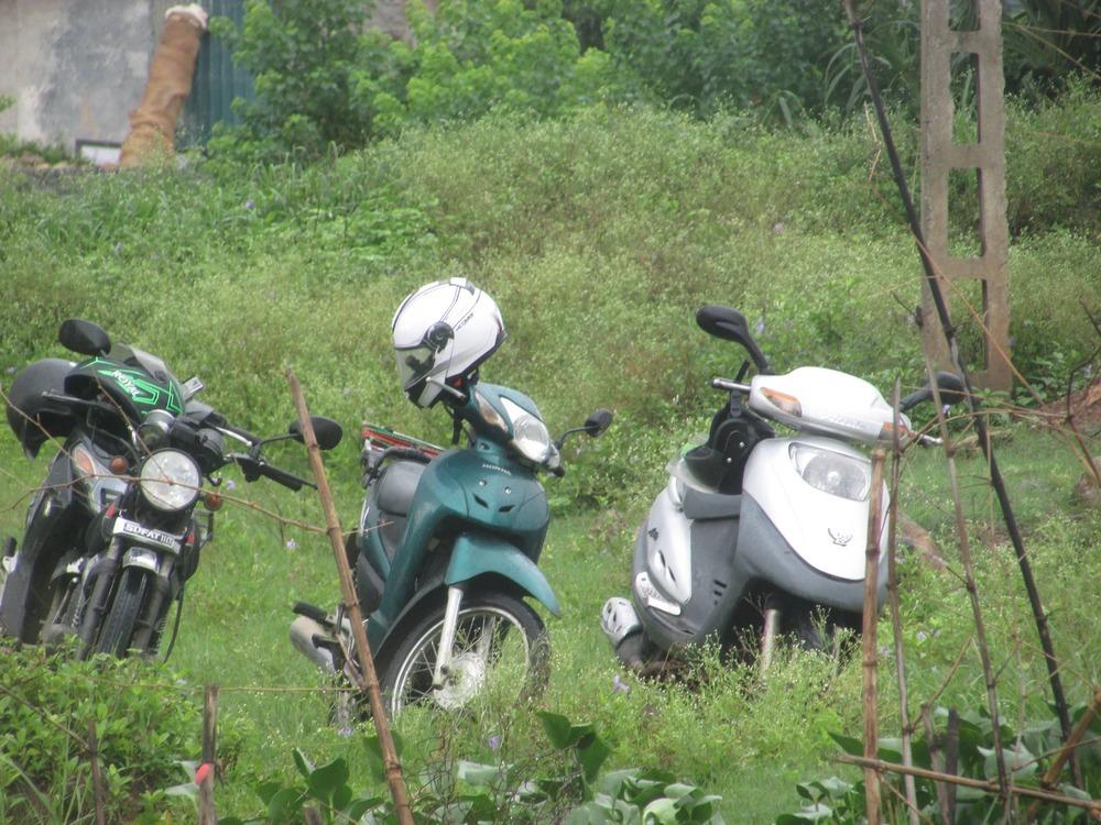 Our three machines: Atilla, Honda and Peglica!