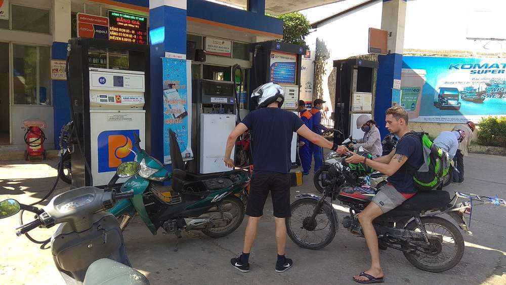 Make sure to fill up your bikes every once in a while on the trusty gas pump!