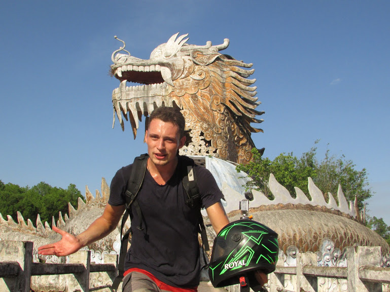 You get to explore inside this huge dragon that dominates the Abandoned Water Park in Hue.