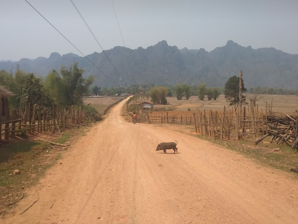 Villages on the way to Kong Lor Cave.