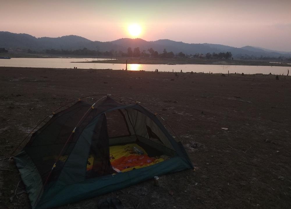 Camping in Nakai.