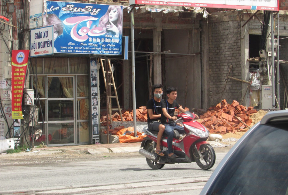 Construction is everywhere in Vietnam.