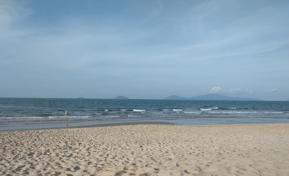 A nice weather and the beach in Hoi An, Central Vietnam.