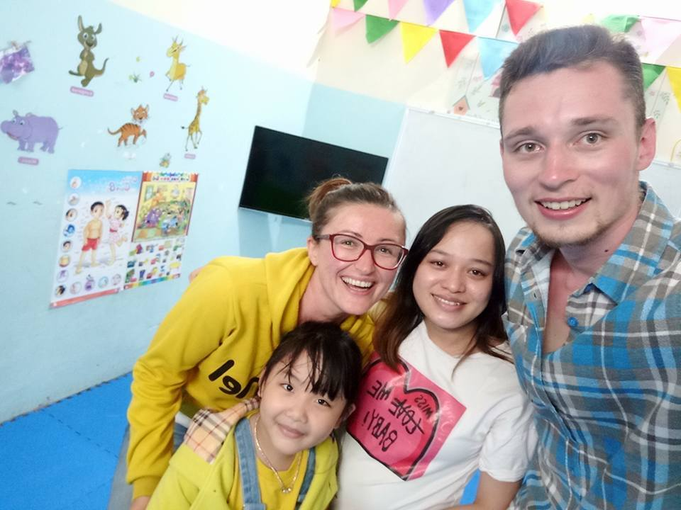 Teaching in the private English center