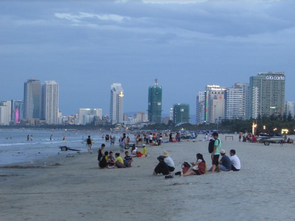Vietnamese at the beach