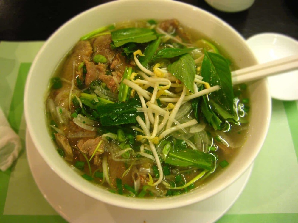 The iconic Pho soup is quite delicious!