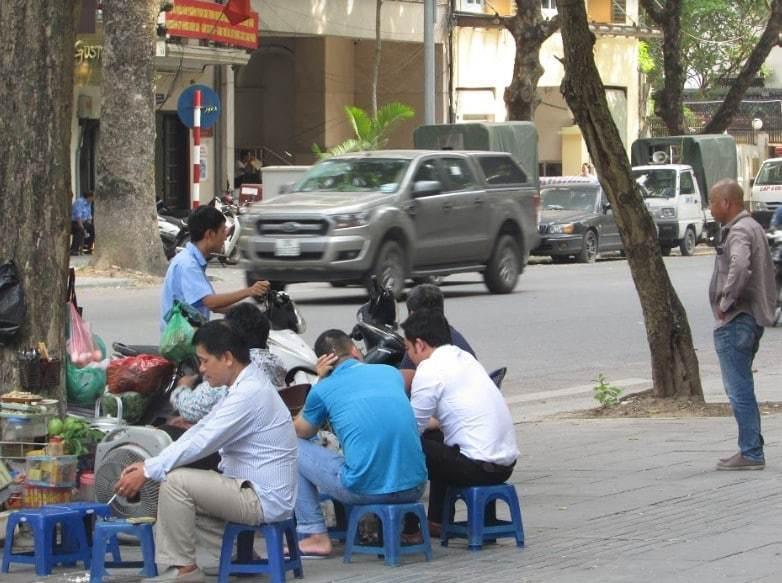 Walking around Hanoi streets