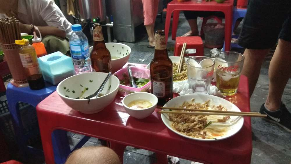 Street food in Vietnam is the cheapest option.