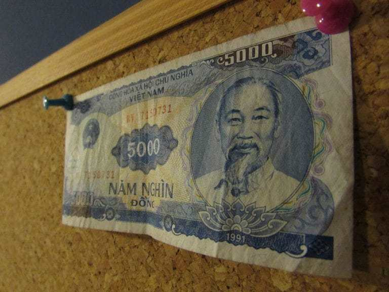 The main currency in Vietnam is Vietnamese Dong. Fun fact: Uncle Ho is on every banknote!