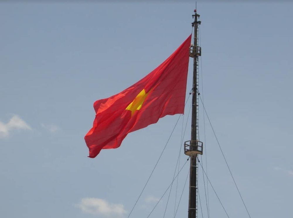 Vietnam flag in Hue