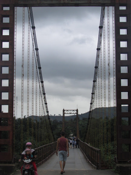 Enjoy the vibes on the Kon Klor Suspension Bridge!