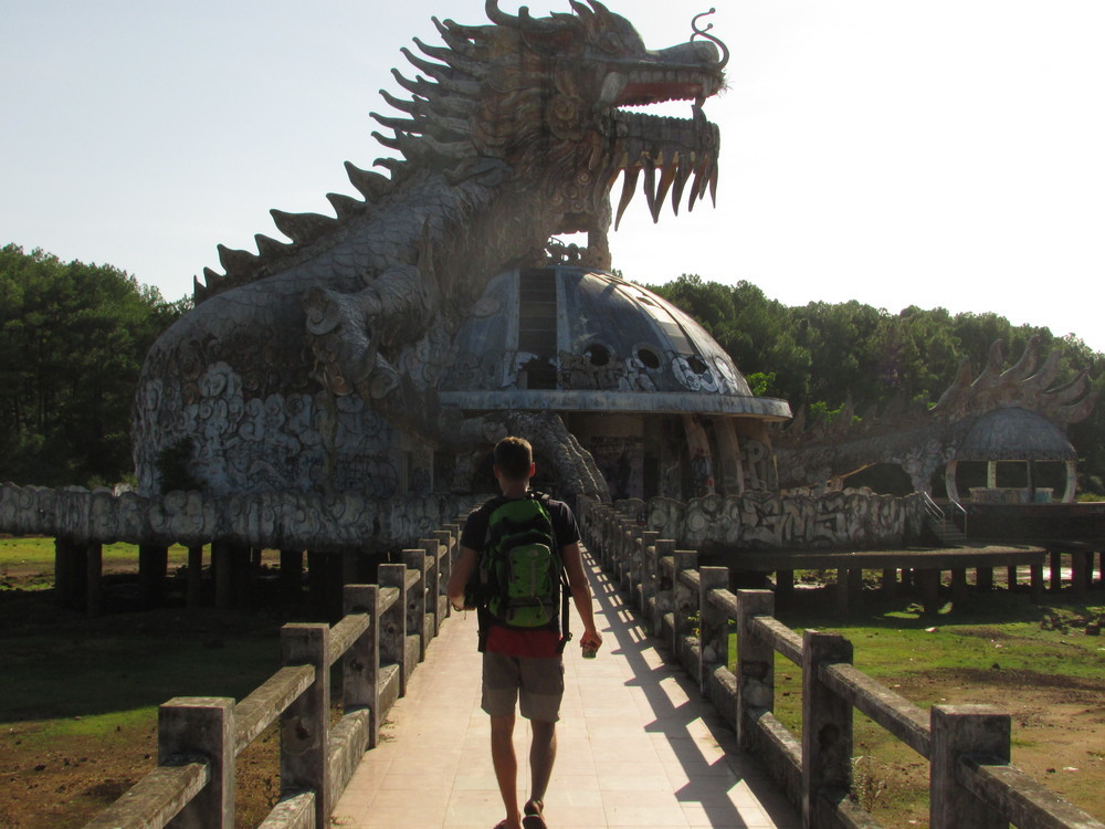 Abandoned waterpark in Hue