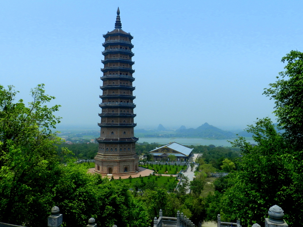 Check out the Bai Dinh Pagoda; the largest Buddhist temple in Vietnam!