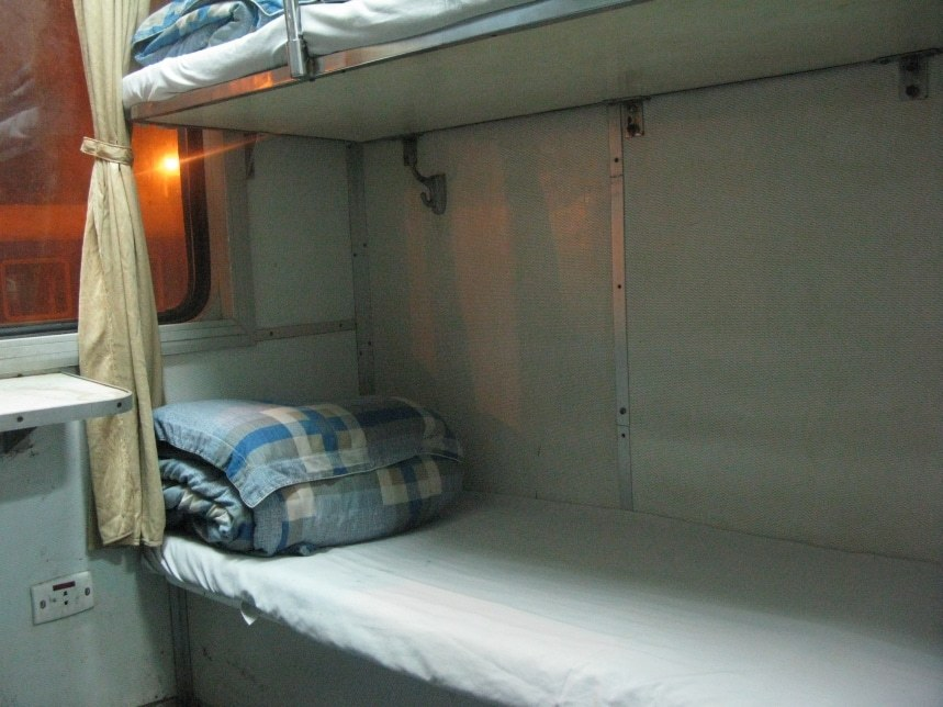 Trains with berths are the most comfortable, especially for overnight journeys.
