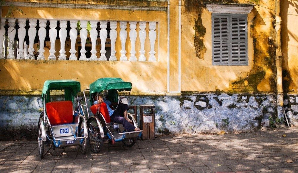 Cyclo drivers in Hoi An