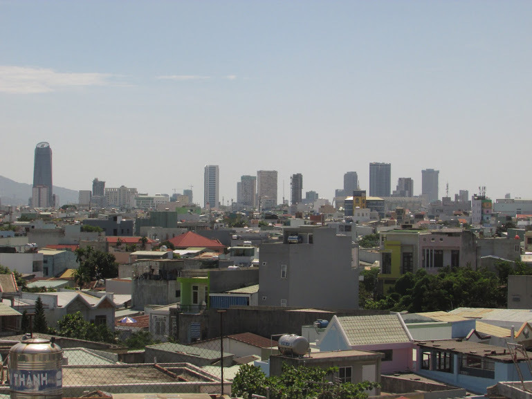 Da Nang skyline; as seen from the Fedora Hostel rooftop.