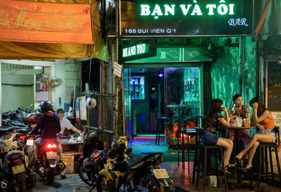 Vibrant nightlife in Saigon