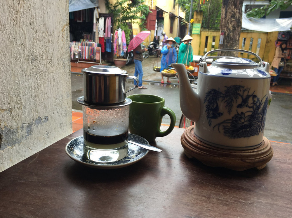 Traditional Vietnamese milk coffee