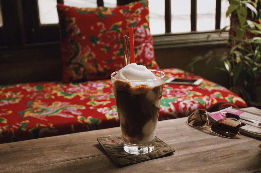 Delicious coconut coffee