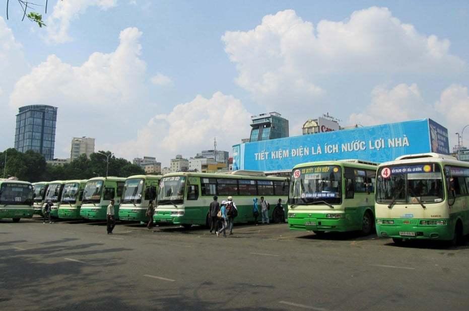 Bus station in Saigon