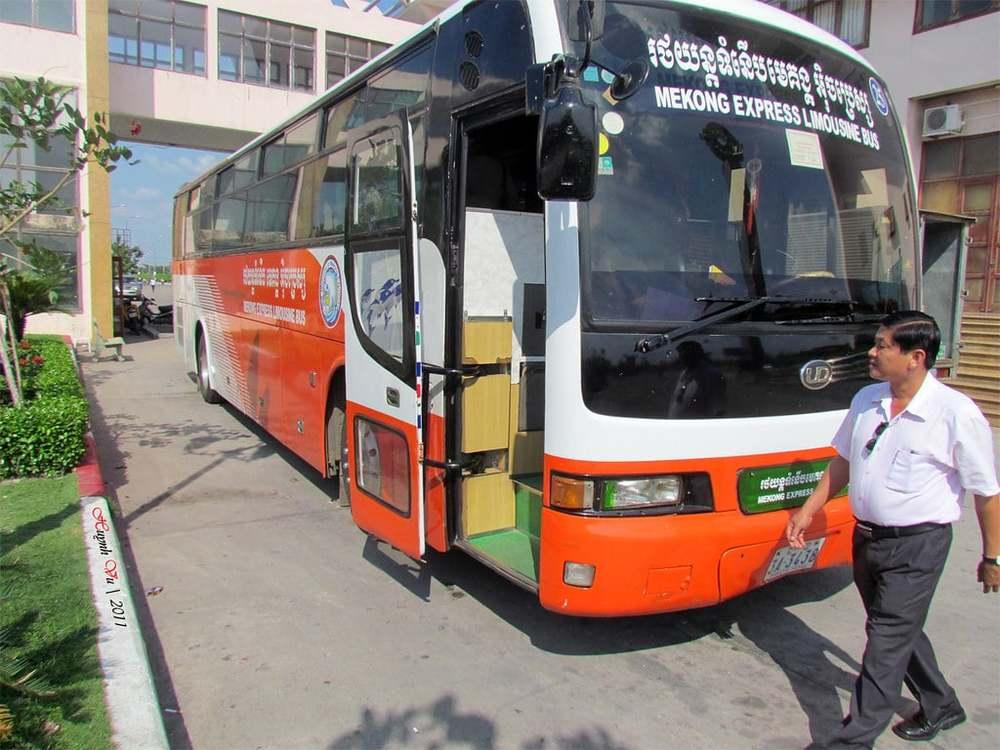 Mekong Express bus.