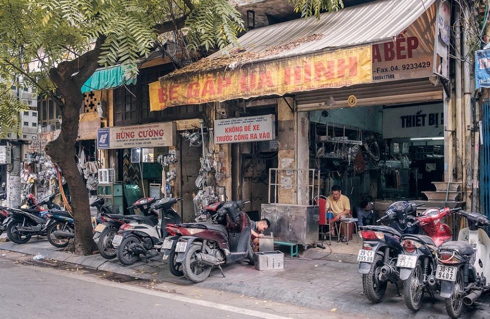Motorbike shops around the cities