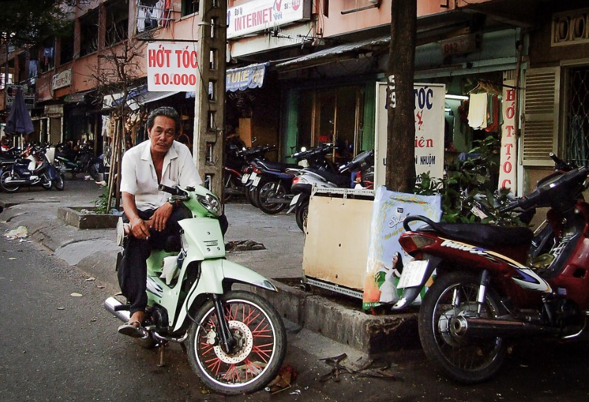 Motorbike taxi on the street