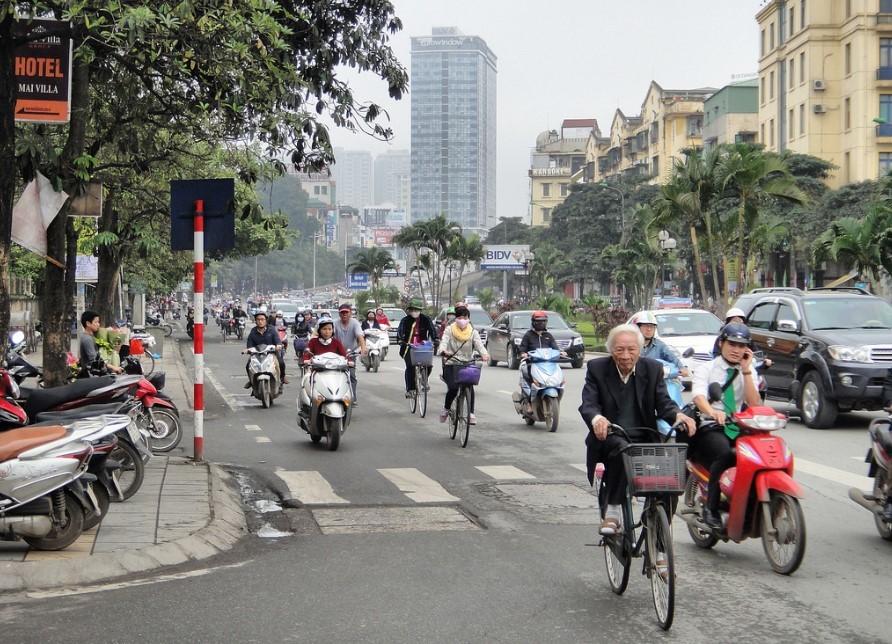 Daily traffic in Hanoi