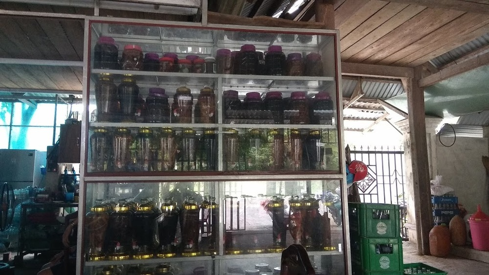 Rice wine collection.