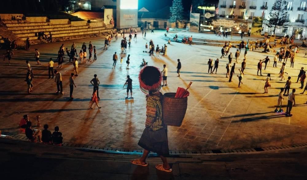 Street kid around the north Vietnam
