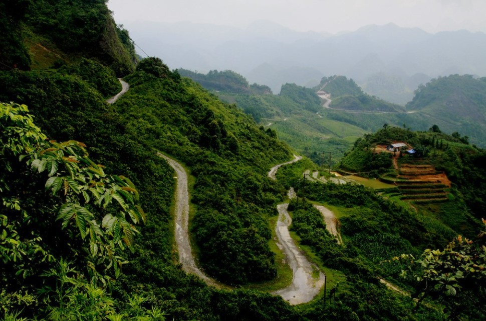 Ha Giang to Tam Son road