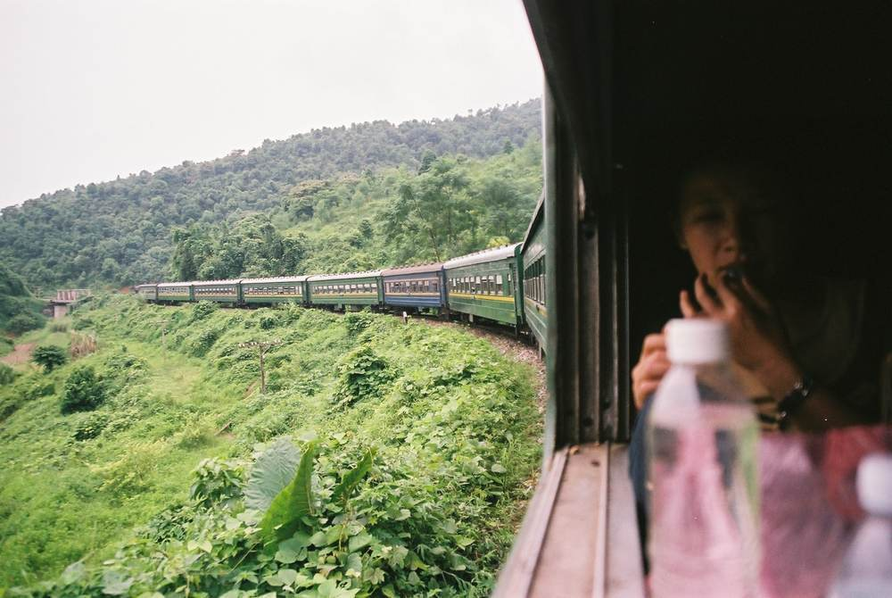 Trains in Vietnam are an awesome way to see the amazing scenery!